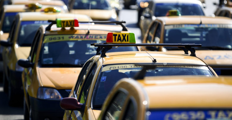 protest taxi